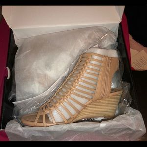 Torrid Size 10.5 Nude Cage Wedges